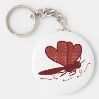 Corações uma corrente chave da borboleta chaveiros