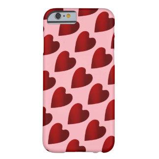 Corações vermelhos e cor-de-rosa do dia dos capa barely there para iPhone 6