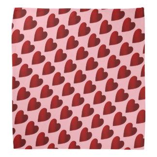 Corações vermelhos e cor-de-rosa do dia dos bandanas