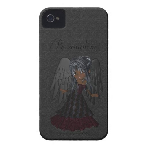 Corajoso gótico bonito de Blackberry do anjo perso Capas iPhone 4 Case-Mate