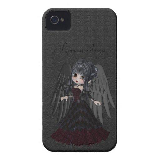Corajoso gótico bonito de Blackberry do anjo perso Capa iPhone 4