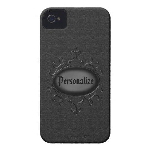 Corajoso gótico de Blackberry do damasco do vintag Capas iPhone 4 Case-Mate