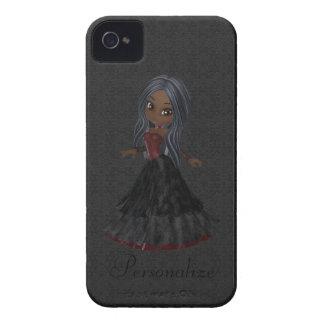Corajoso pequeno bonito de Blackberry da menina do Capa De iPhone 4 Case-Mate