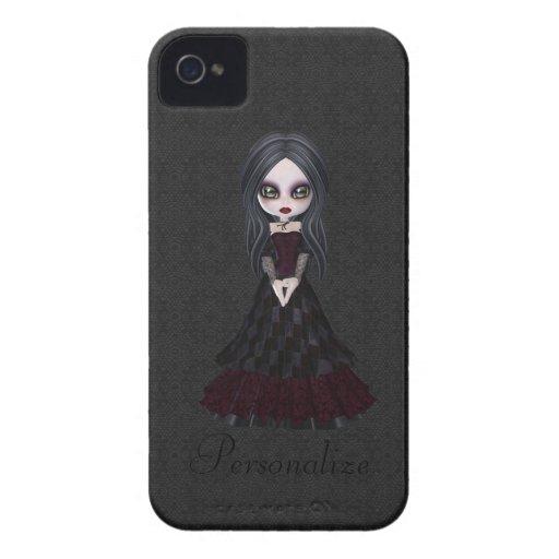 Corajoso pequeno bonito de Blackberry da menina do