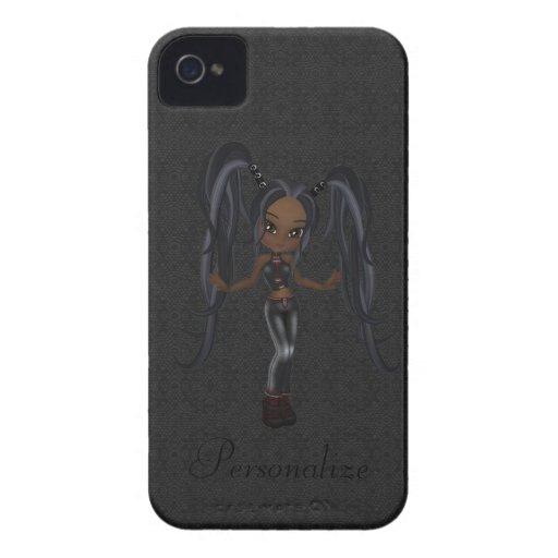 Corajoso pequeno bonito de Blackberry da menina do iPhone 4 Capas