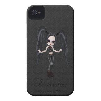 Corajoso pequeno bonito de Blackberry da menina do iPhone 4 Capa