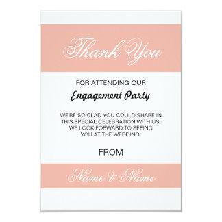 Coral dos cartões de agradecimentos do casamento e