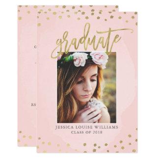 Coram o rosa e os convites luxuosos da graduação