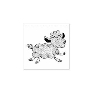 cordeiro pequeno bonito carimbo de borracha