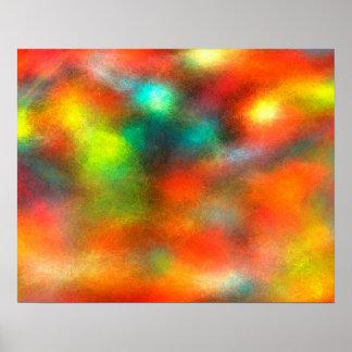 Cores abstratas da arte moderna pôster