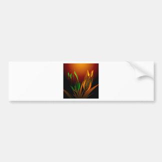 Cores abstratas da flor da tulipa adesivo para carro