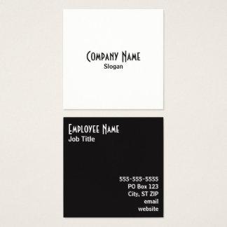 Cores alternas simples de sal e de pimenta cartão de visitas quadrado