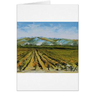 Cores de Napa Valley, região vinícola Califórnia Cartão