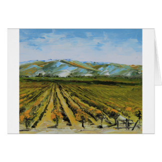 Cores de Napa Valley, região vinícola Califórnia Cartão Comemorativo