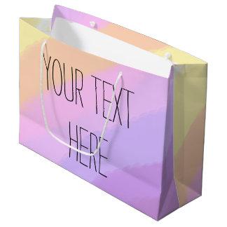cores de néon brilhantes bonitos do unicórnio dos sacola para presentes grande