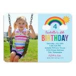 Cores do arco-íris do convite de aniversário | da