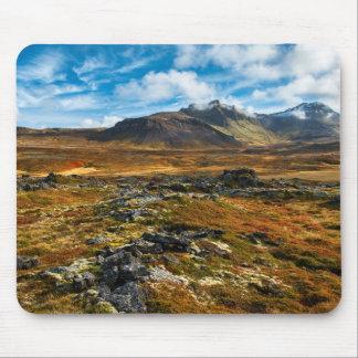 Cores do outono na paisagem mouse pad