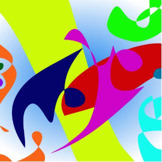 Cores do verão da bacia do peixe dourado foto escultura