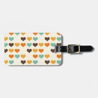 Cores dos corações do vintage tags para bagagens