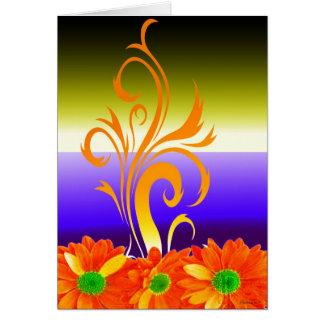 Cores festivas cartão comemorativo