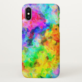 Cores pintadas brilhantes capa para iPhone x