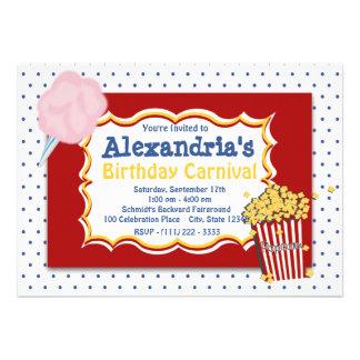 Cores preliminares do aniversário do carnaval convites personalizados