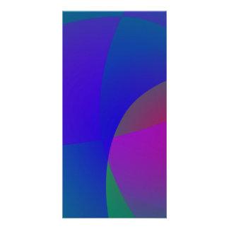 Cores profundas delicadas geométricas cartão com foto