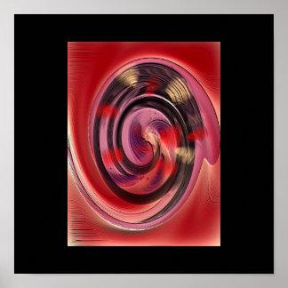 Cores que giram o poster da arte abstracta