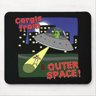Corgis do espaço mouse pads