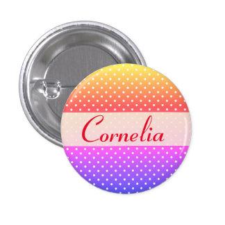 Cornelia brasão Anstecker Bóton Redondo 2.54cm