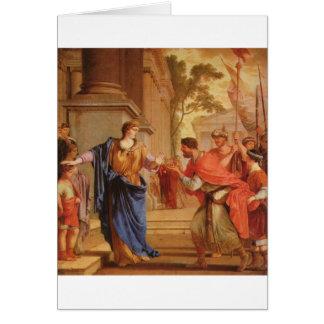 Cornelia tem a coroa da parte traseira Ptolemaic Cartão Comemorativo