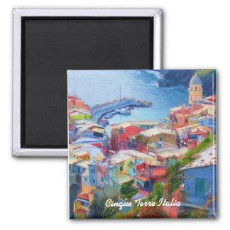 Corniglia Cinque Terre Italia Ímã Quadrado
