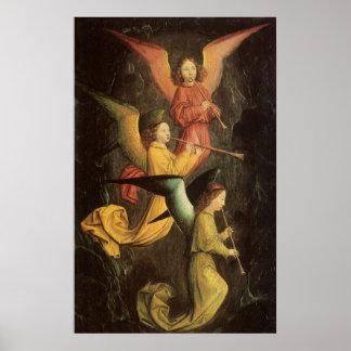 Coro dos anjos por Simon Marmion arte de renascim Poster