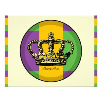 Coroa da bandeira do carnaval convite personalizados