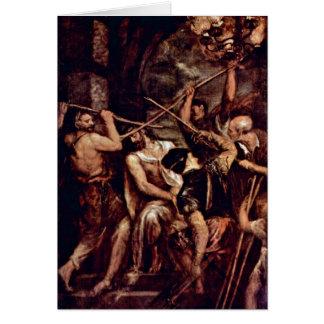 Coroa de espinhos por Titian Cartão Comemorativo