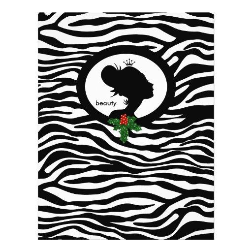 Coroa do preto da zebra da beleza do insecto do sa panfletos