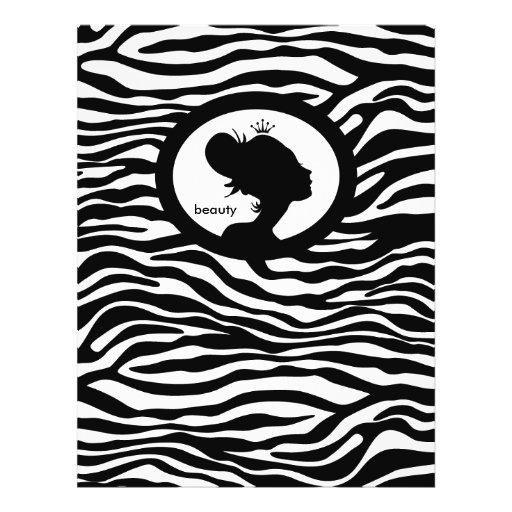 Coroa do preto da zebra do cabelo do insecto do sa panfleto