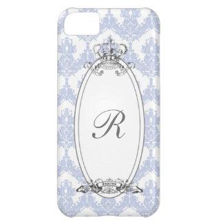 Coroa iPhone5 Case_Blue do damasco Capa Para iPhone 5C