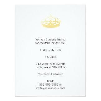 Coroa unisex do jubileu do salão de beleza do convite 10.79 x 13.97cm