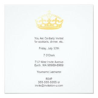 Coroa unisex do jubileu do salão de beleza do convite quadrado 13.35 x 13.35cm