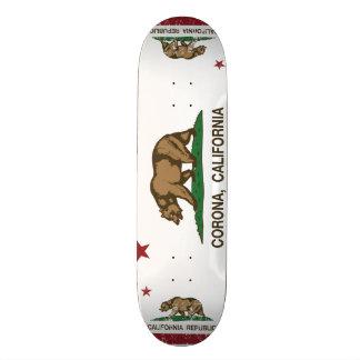 Corona da bandeira do estado de Califórnia Shape De Skate 21,6cm