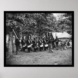 Corpo de cilindro em Bealeton, VA 1863 Poster