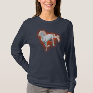 Corredor do cavalo branco camiseta