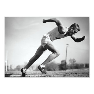 Corredor masculino convite 12.7 x 17.78cm