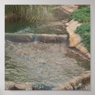 Córrego de fluxo impressão