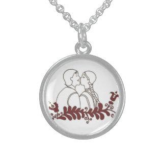 corrente, casamento colar de prata esterlina
