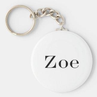 Corrente chave conhecida de Zoe Chaveiro