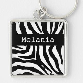 Corrente chave conhecida personalizada impressão d chaveiro quadrado na cor prata