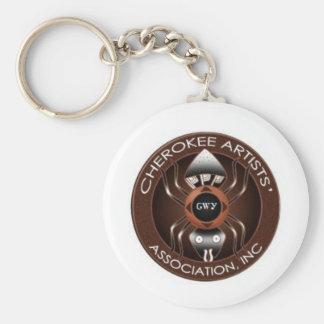 Corrente chave da associação Cherokee dos artistas Chaveiro