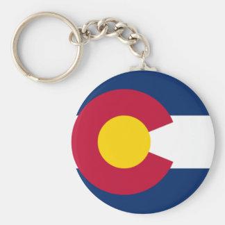 Corrente chave da bandeira de Colorado Chaveiro